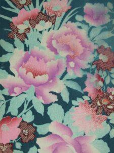 牡丹 薔薇 〔縮緬〕