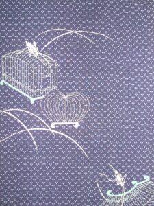 虫籠〔紋錦紗〕〔着尺地〕