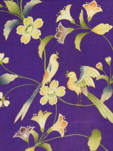 花唐草 鳥〔縮緬 羽織〕