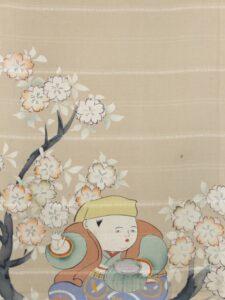 花咲か爺さん〔長襦袢 縮緬〕