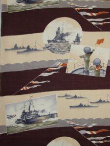 戦艦と手旗信号【子供きもの モスリン】