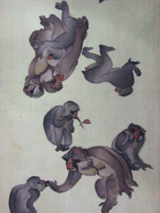 猿の家族も団欒【羽裏 羽二重】