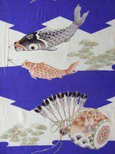 鯉のぼり 矢櫃【子供きもの 羽二重】