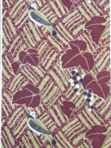 蔦と鳥【モスリン 長襦袢】