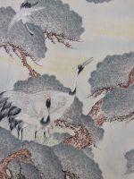 鶴の子育て【縮緬 長着】