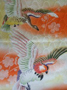 鴛鴦《紋綸子 羽裏》