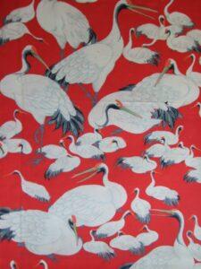 群れ鳥《平絹 羽裏》