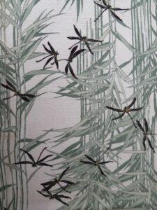 蜻蛉と葦《縮緬(四越) 長着》