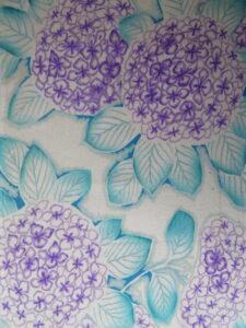 紫陽花《錦紗縮緬(二越) 長着》