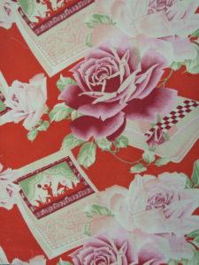 【薔薇と冊子】モスリン 長着